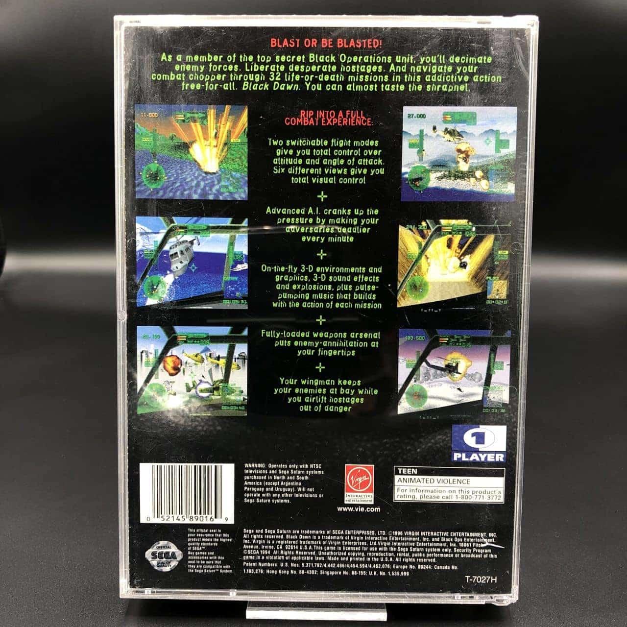 Black Dawn (Import USA) (Komplett) (Gut) Sega Saturn
