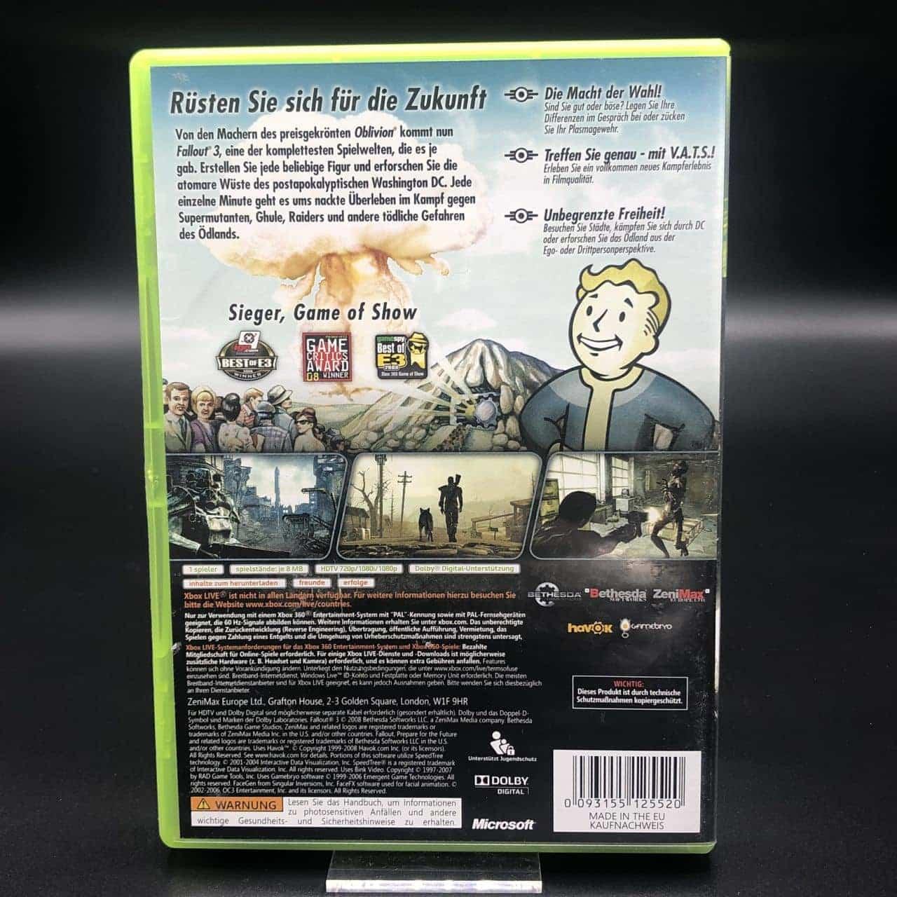 Fallout 3 (Sehr gut) (Komplett) Xbox 360 (FSK18)