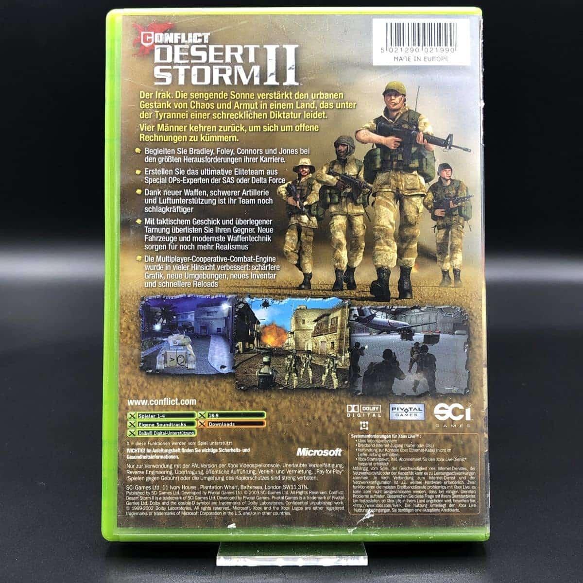 XBC Conflict: Desert Storm II (Komplett) (Gebrauchsspuren) Microsoft Xbox Classic