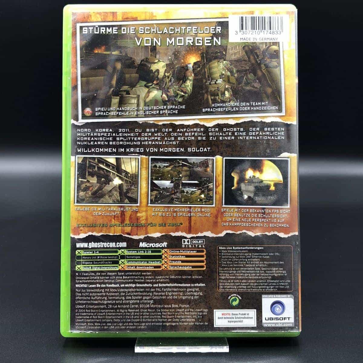 XBC Tom Clancy's Ghost Recon 2 (Komplett) (Gebrauchsspuren) Microsoft Xbox Classic