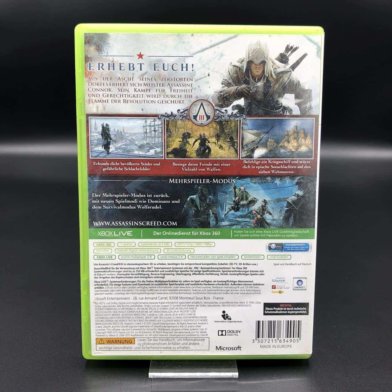 Assassin's Creed III (Komplett) (Gut) XBOX 360