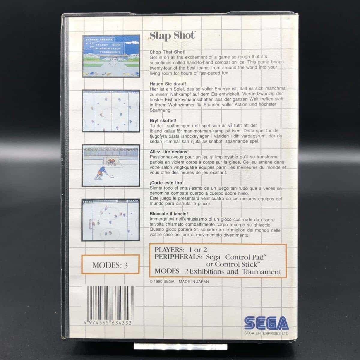 Slap Shot (Komplett) (Gebrauchsspuren) Sega Master System