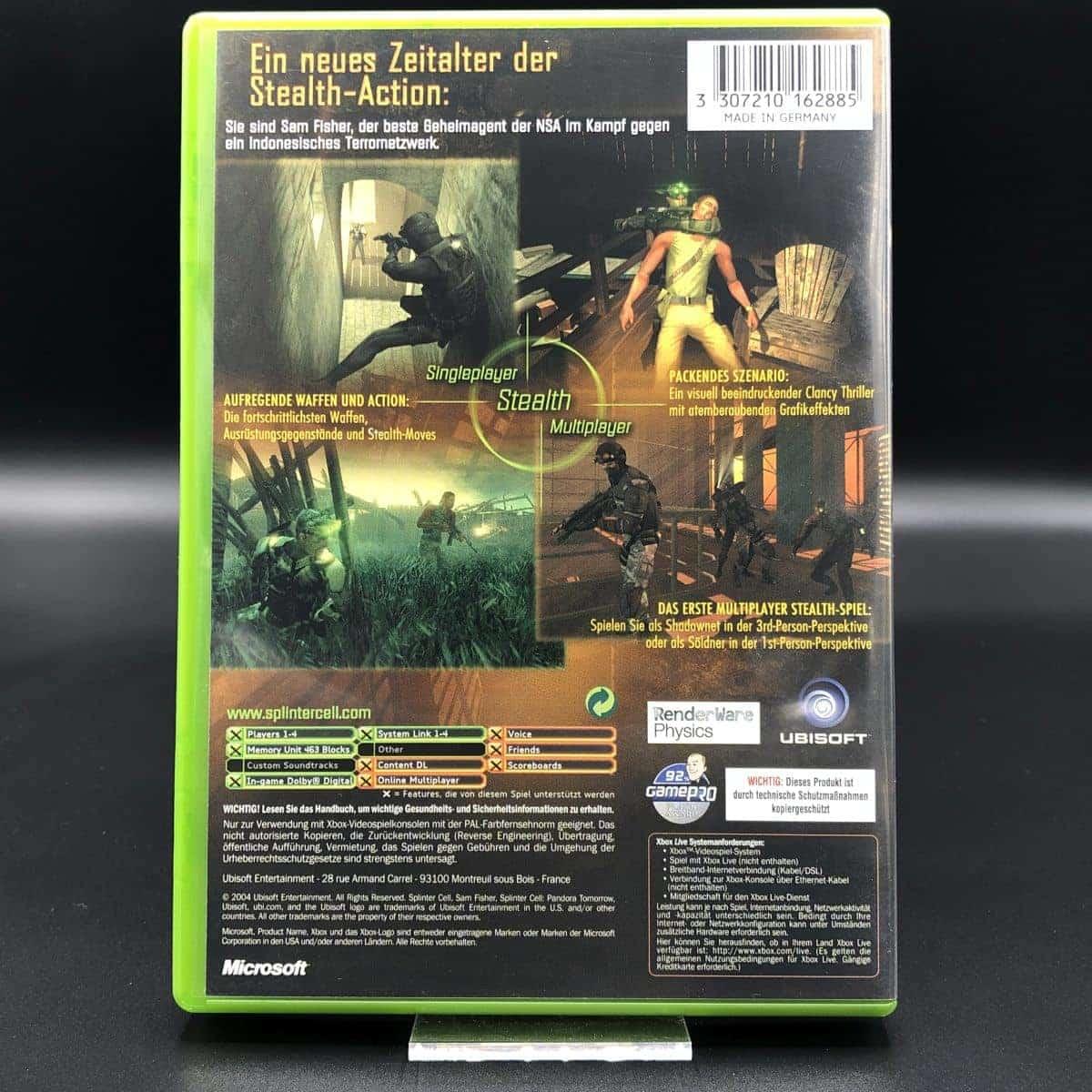 XBC Tom Clancy's Splinter Cell: Pandora Tomorrow (Komplett) (Sehr gut) Microsoft Xbox Classic