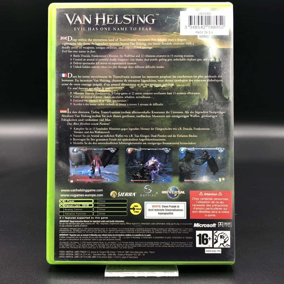 XBC Van Helsing (Komplett) (Gebrauchsspuren) Microsoft Xbox Classic