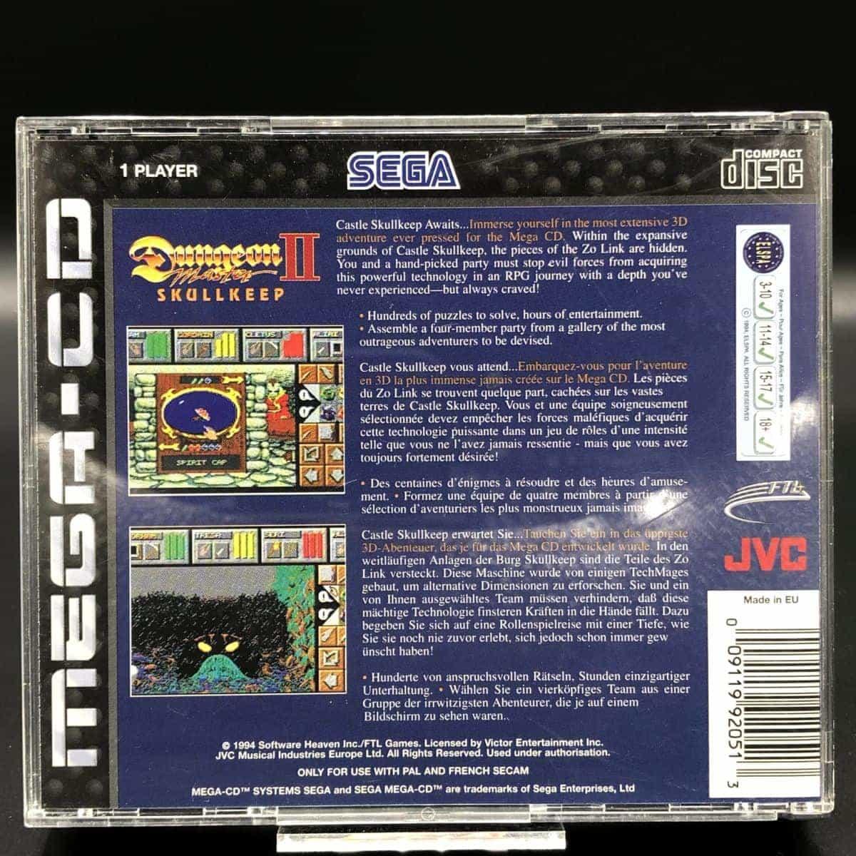 Dungeon Master II: The Legend of Skullkeep (Komplett) (Sehr gut) Sega Mega CD