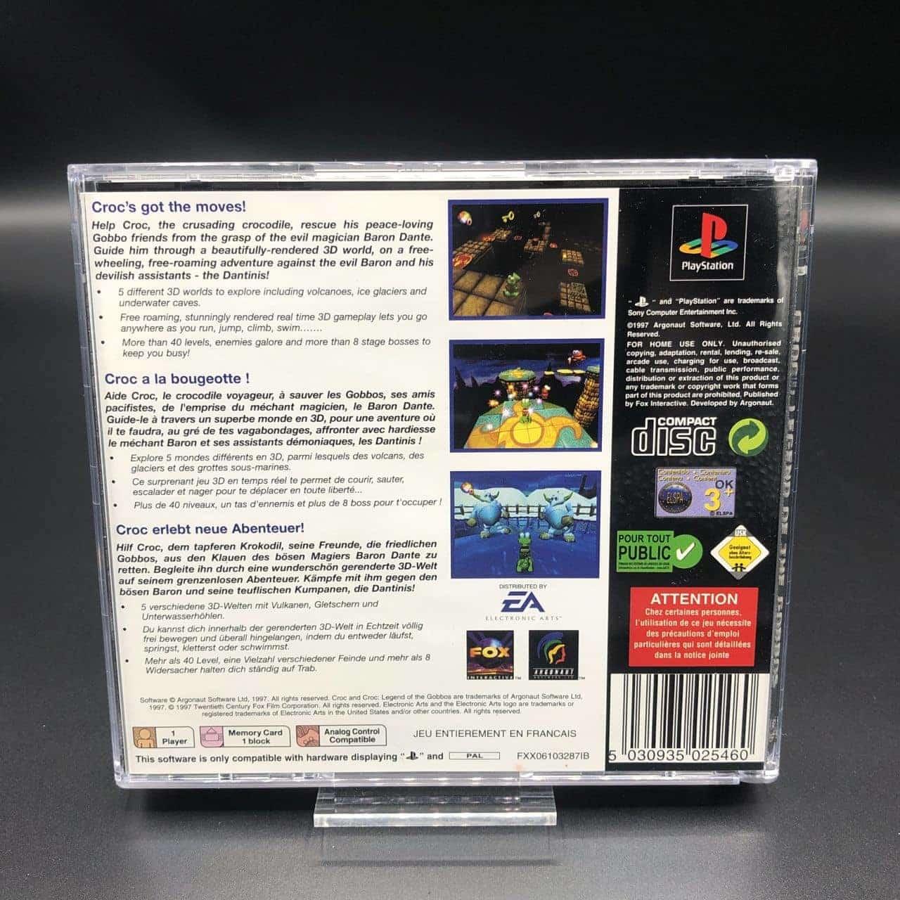 PS1 Croc: Legend of the Gobbos (Classics) (Komplett) (Gut) Sony PlayStation 1
