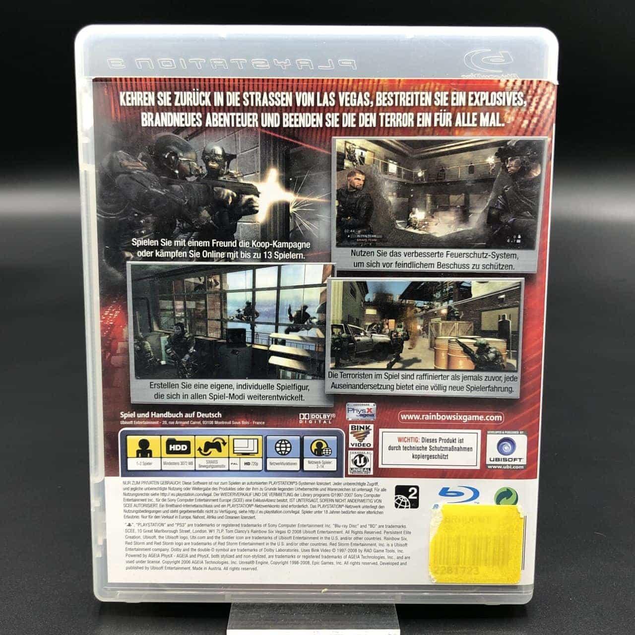 PS3 Tom Clancy's Rainbow Six: Vegas 2 (Komplett) (Sehr gut) Sony PlayStation 3 (FSK18)