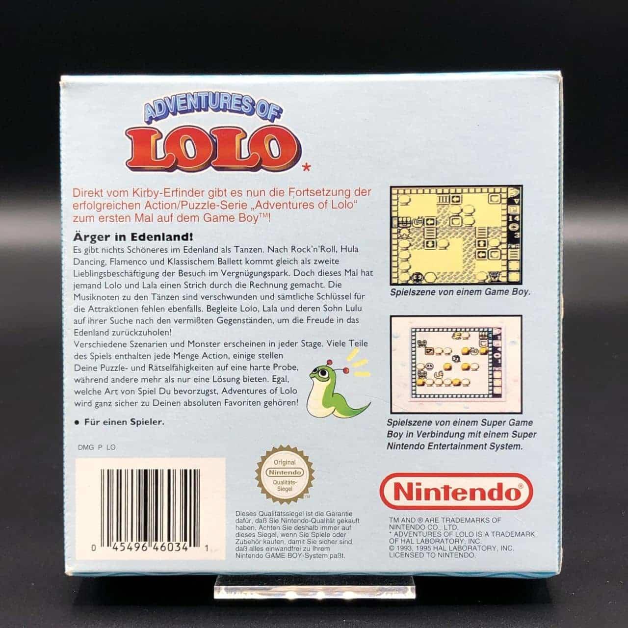 GB Adventures of Lolo (Komplett) (Gut) Nintendo Game Boy