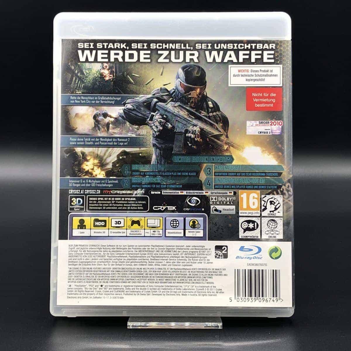 PS3 Crysis 2 (Limited Edition) (Komplett) (Sehr gut) Sony PlayStation 3 (FSK18)