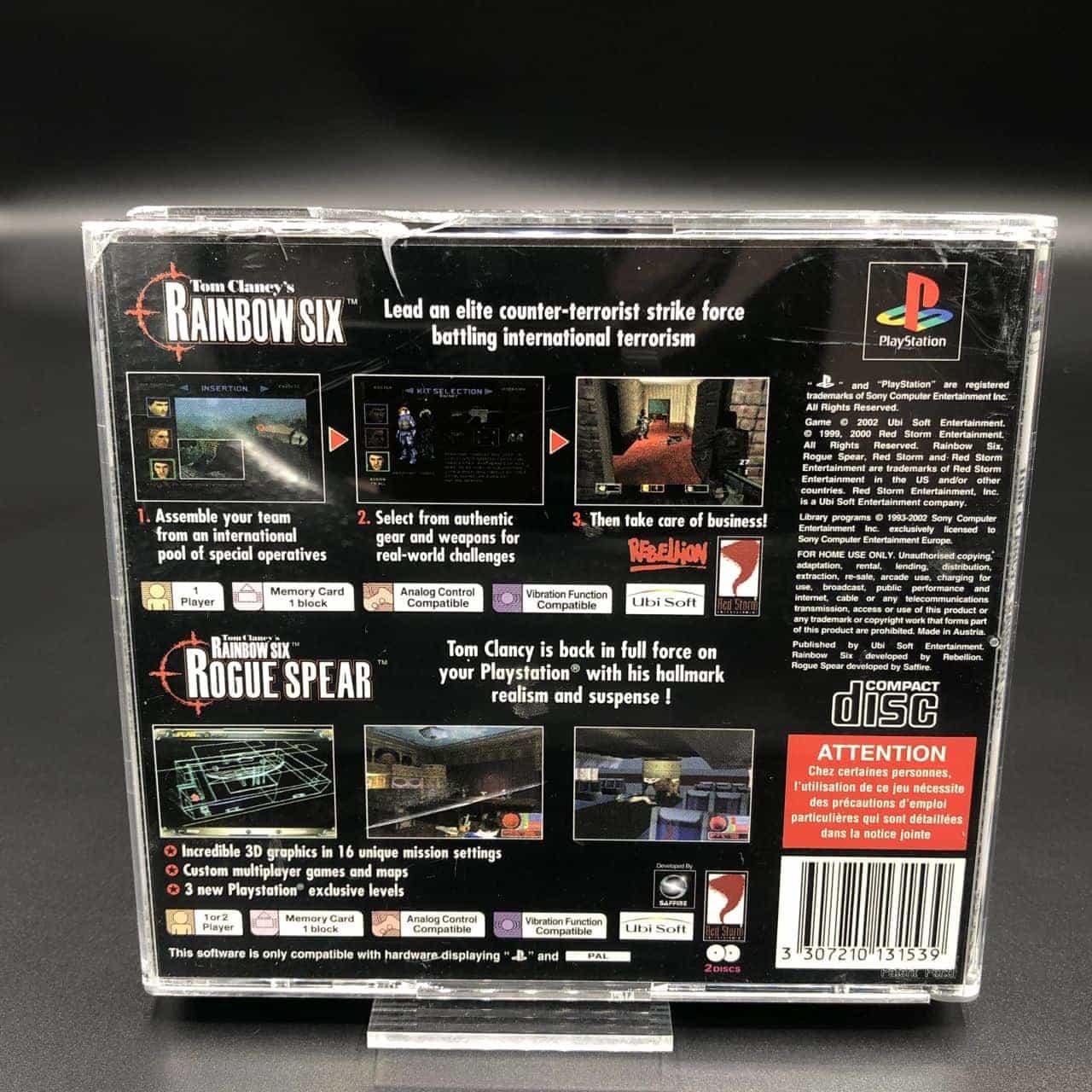 PS1 Tom Clancy's: Rainbow Six + Rogue Spear (2 Games) (Komplett) (Sehr gut) Sony PlayStation 1
