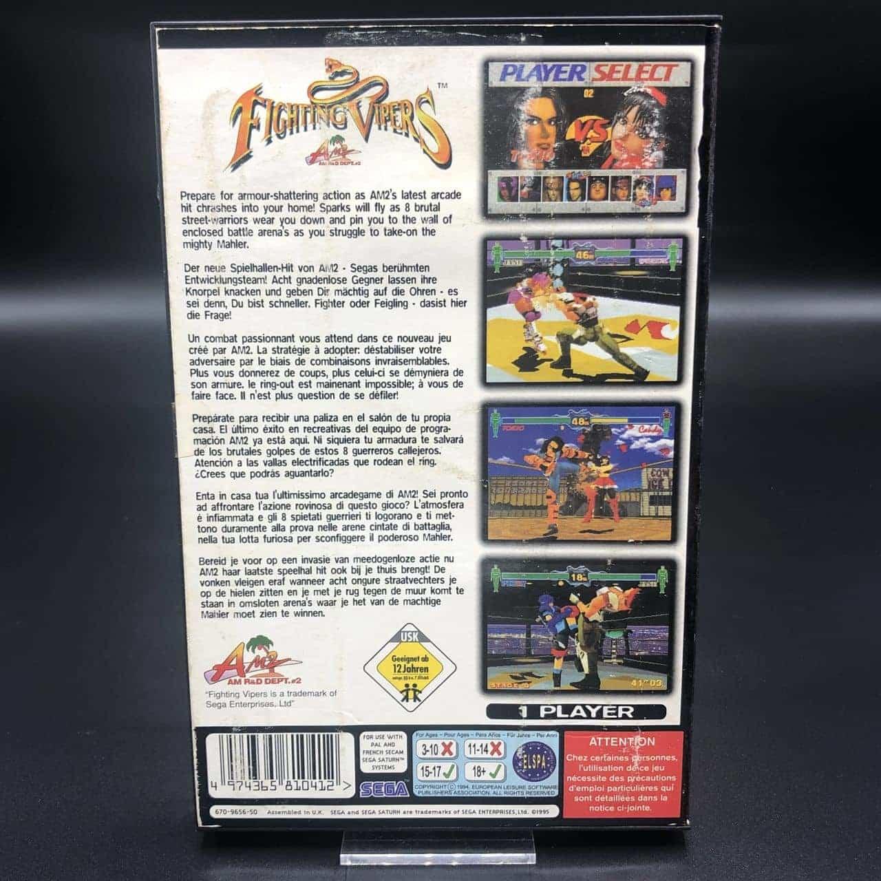 Fighting Vipers (Komplett) (Gut) Sega Saturn