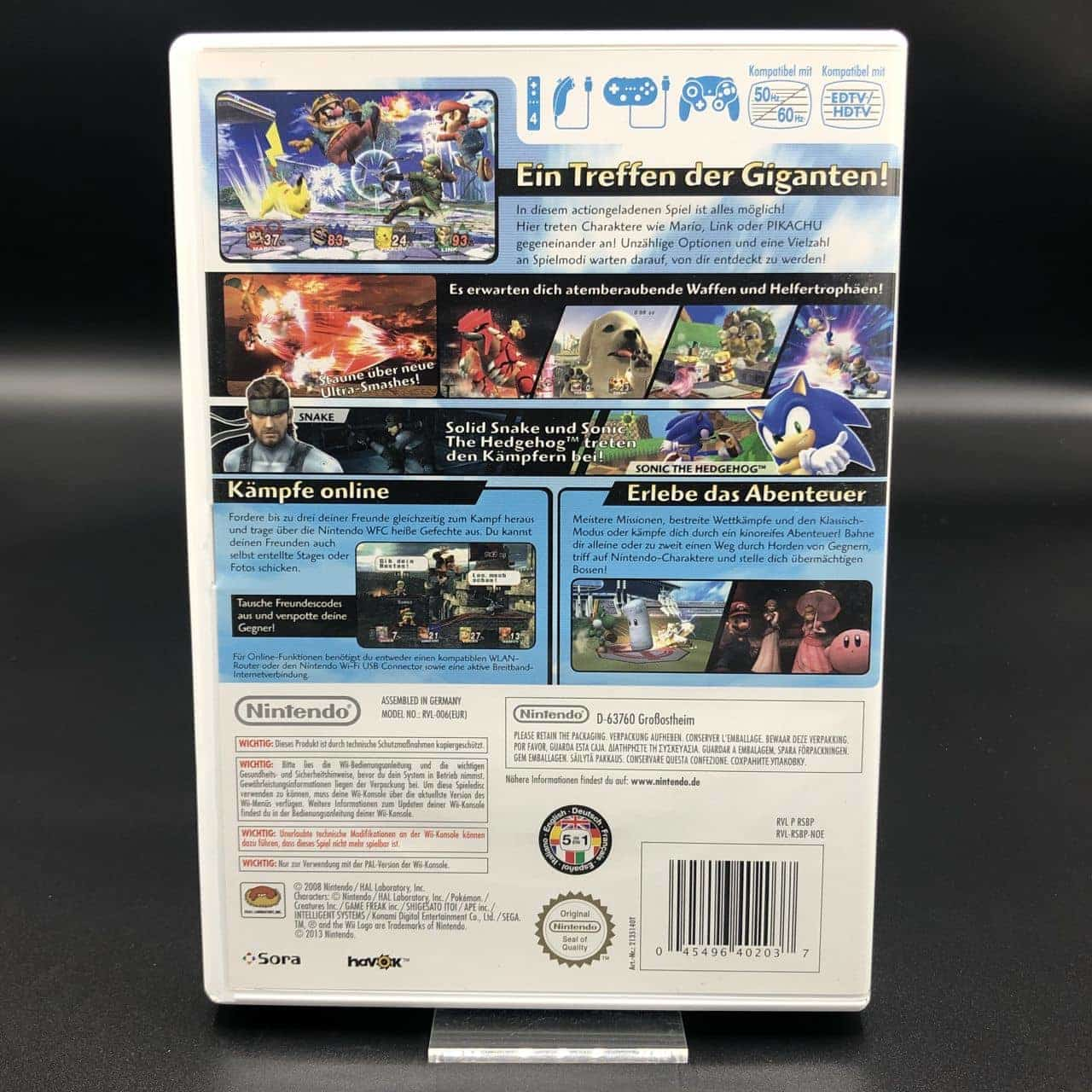 Super Smash Bros. Brawl (Nintendo Selects) (Komplett) (Sehr gut) Nintendo Wii