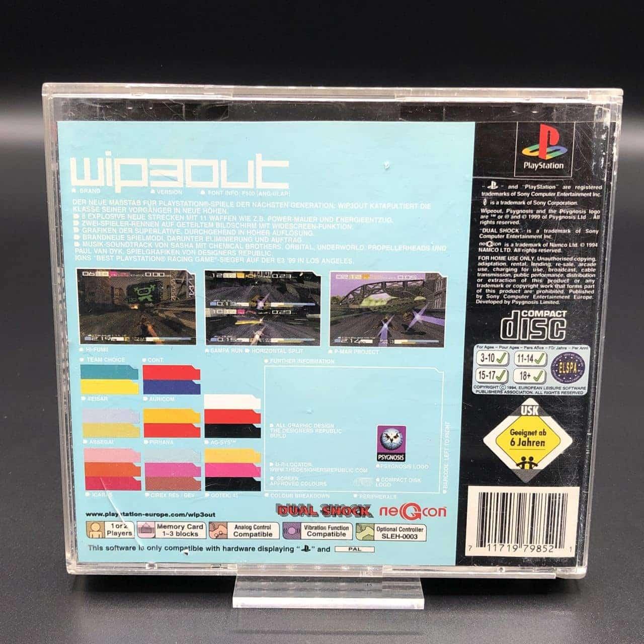PS1 Wipeout (Komplett) (Gebrauchsspuren) Sony PlayStation 1