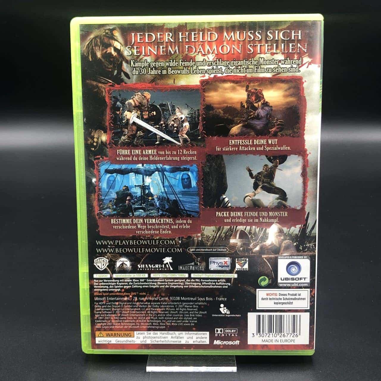 Die Legende von Beowulf - Das Spiel (Komplett) (Sehr gut) XBOX 360 (FSK18)