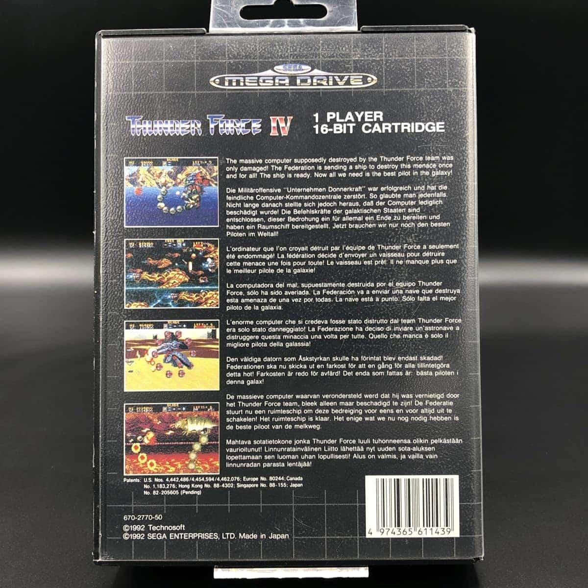 Thunder Force IV (Komplett) (Sehr gut) Sega Mega Drive