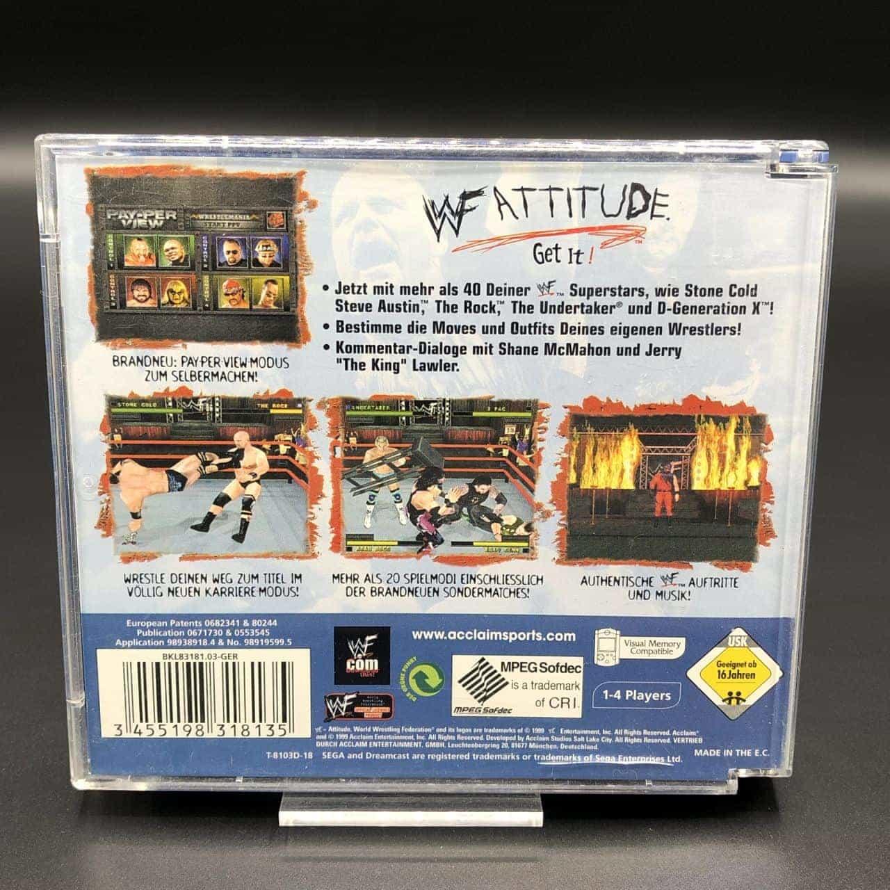 WWF Attitude (Komplett) (Gut) Sega Dreamcast