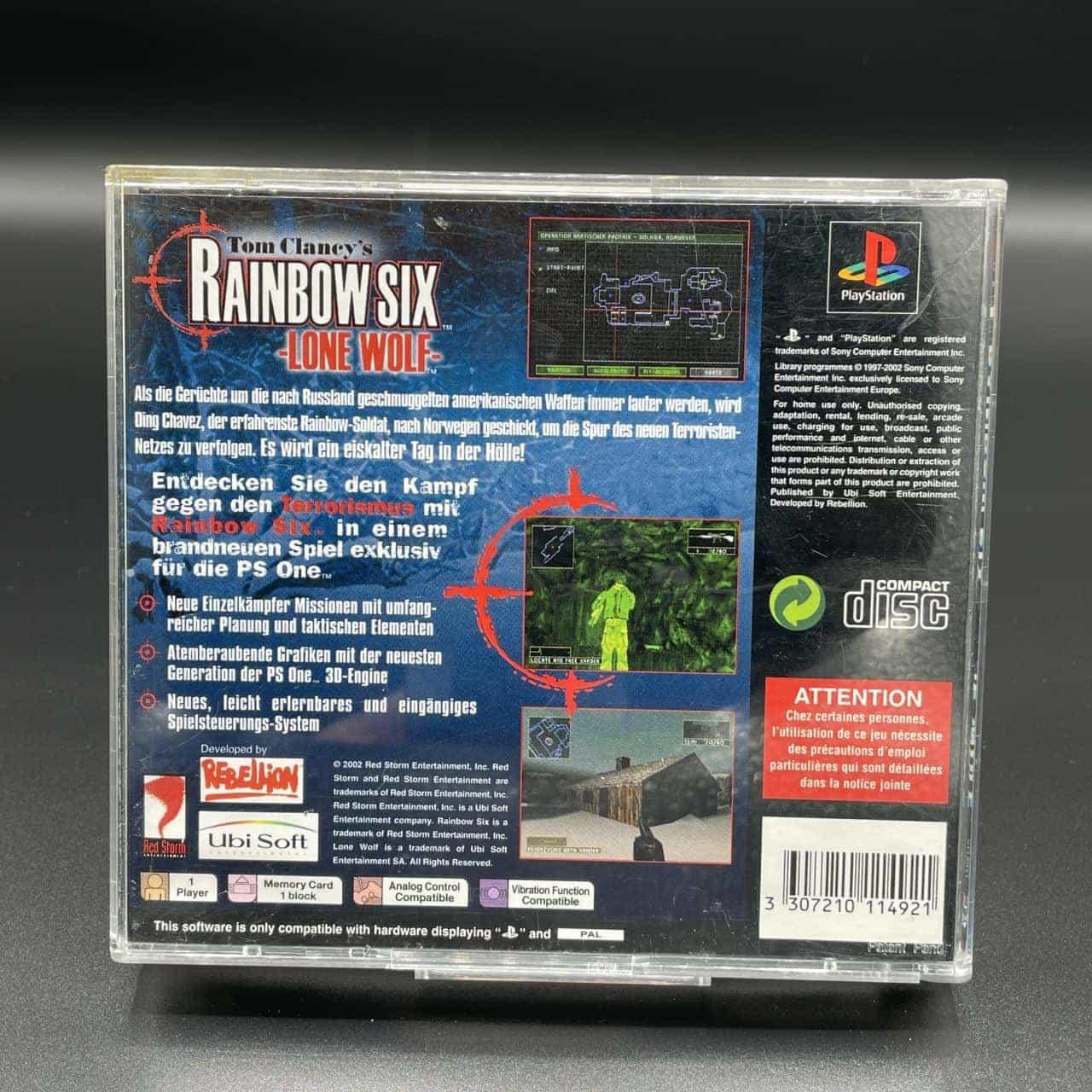 PS1 Rainbow Six: Lone Wolf, Tom Clancy's (Komplett) (Gebrauchsspuren) Sony PlayStation 1