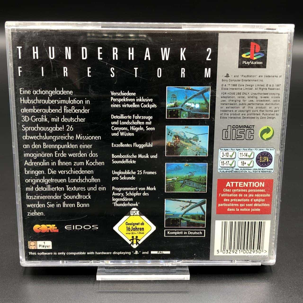 PS1 Thunderhawk 2: Firestorm (Platinum) (ohne Front Cover, mit Anleitung) (Gut) Sony PlayStation 1