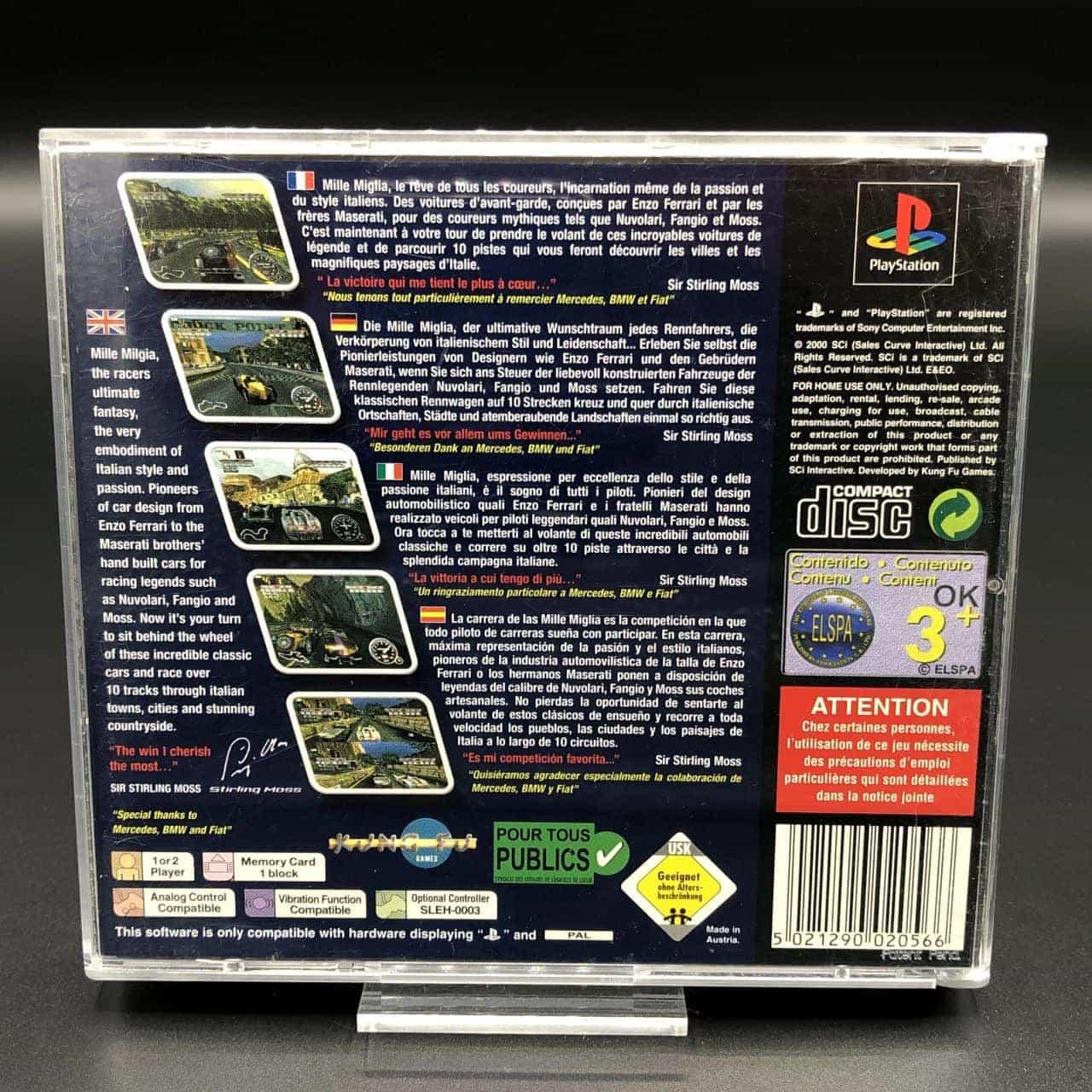 PS1 Mille Miglia (Komplett) (Sehr gut) Sony PlayStation 1