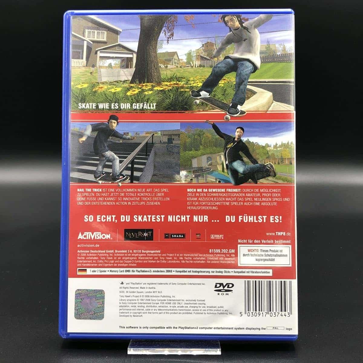 PS2 Tony Hawk's Project 8 (Komplett) (Sehr gut) Sony PlayStation 2