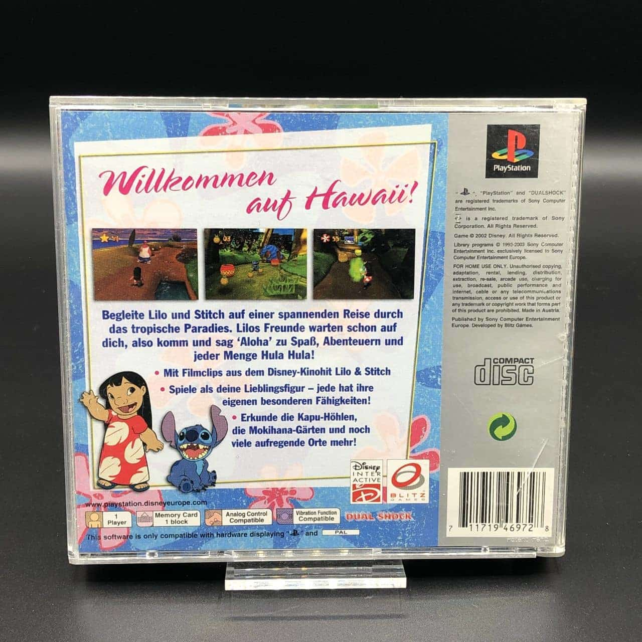 PS1 Disneys Lilo & Stitch: Zoff auf Hawaii (Platinum) (Komplett) (Gut) Sony PlayStation 1
