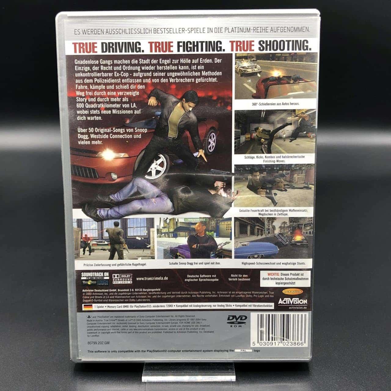 PS2 True Crime: Streets of LA (Platinum) (Komplett) (Sehr gut) Sony PlayStation 2 (FSK18)
