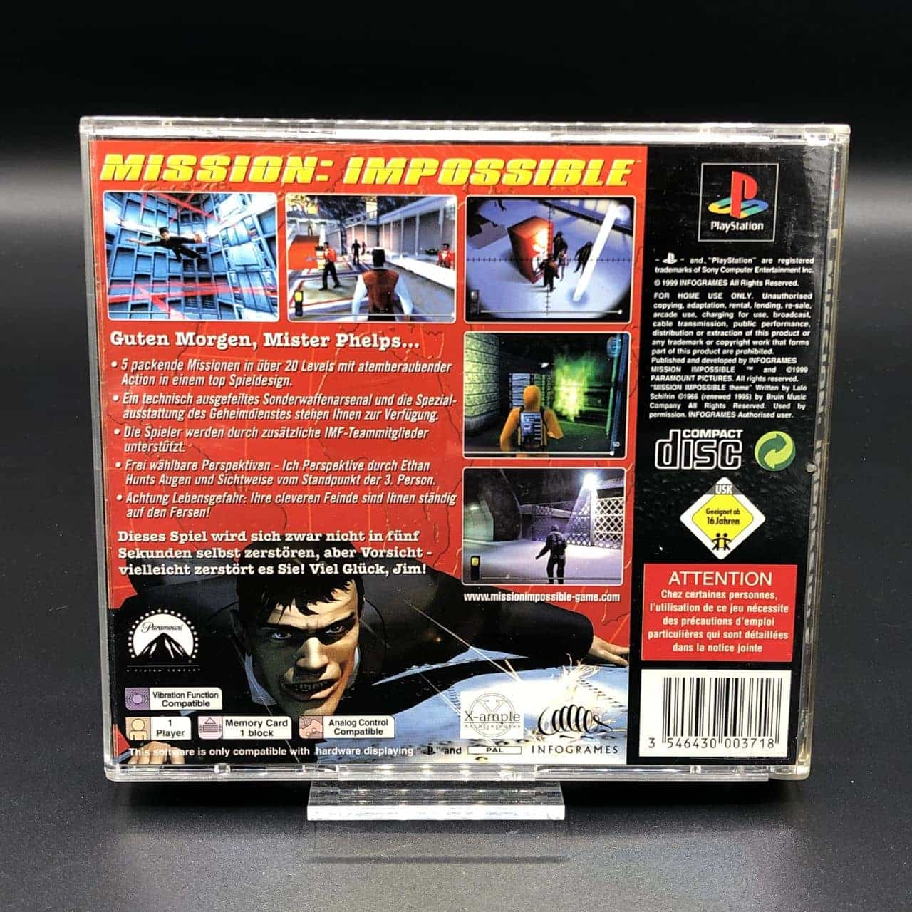 PS1 Mission: Impossible (Komplett) (Sehr gut) Sony PlayStation 1