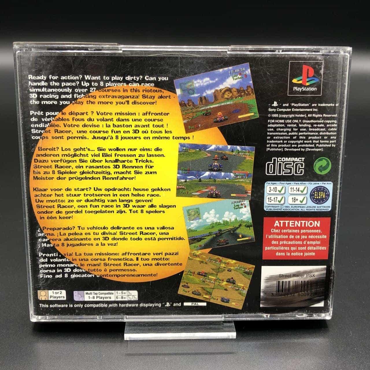 PS1 Street Racer (Komplett) (Gebrauchsspuren) Sony PlayStation 1