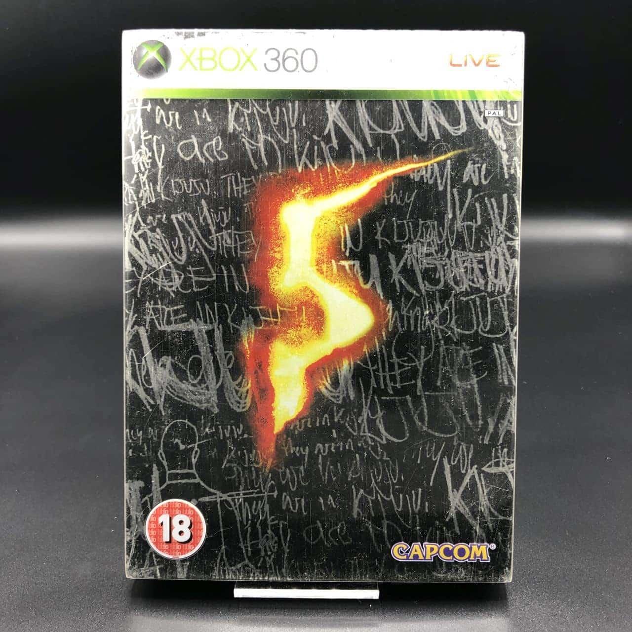 Resident Evil 5 (Steelbook) (Komplett) (Sehr gut) XBOX 360 (FSK18)