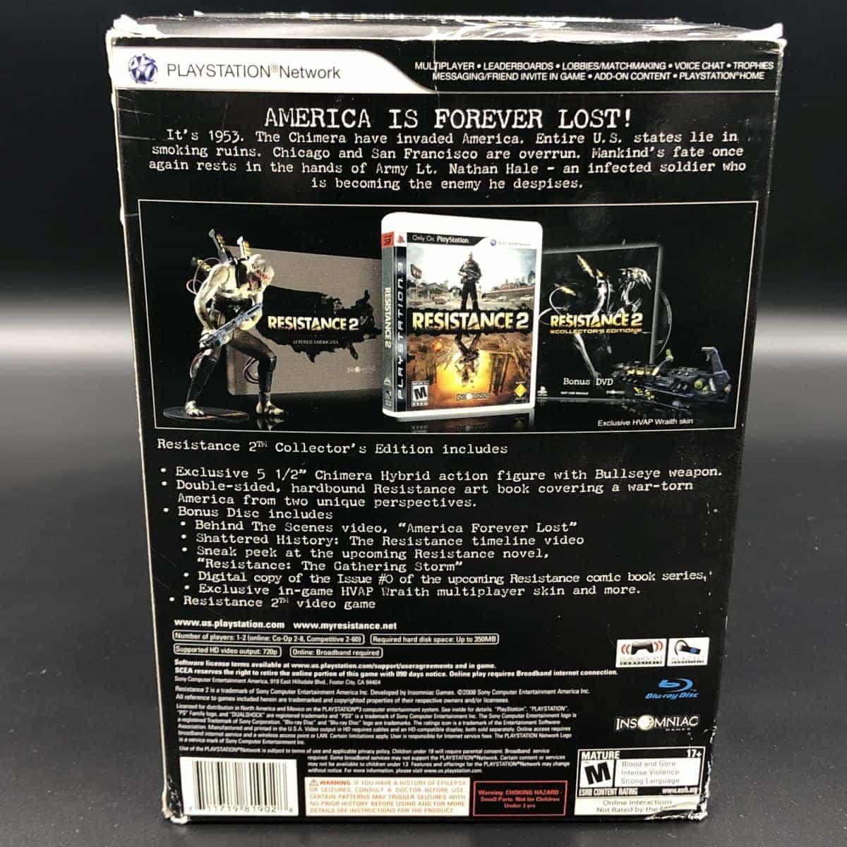 PS3 Resistance 2 (Collector's Edition) (Komplett) (Gebrauchsspuren) (FSK18)