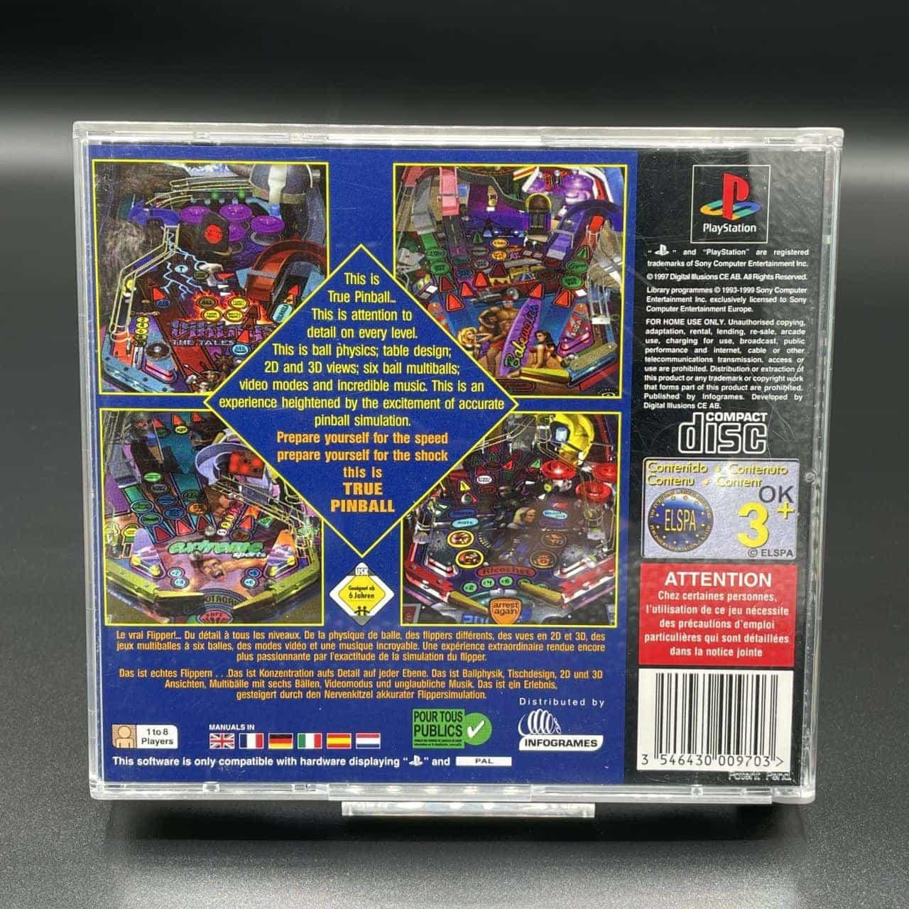 PS1 True Pinball (Komplett) (Gut) Sony PlayStation 1