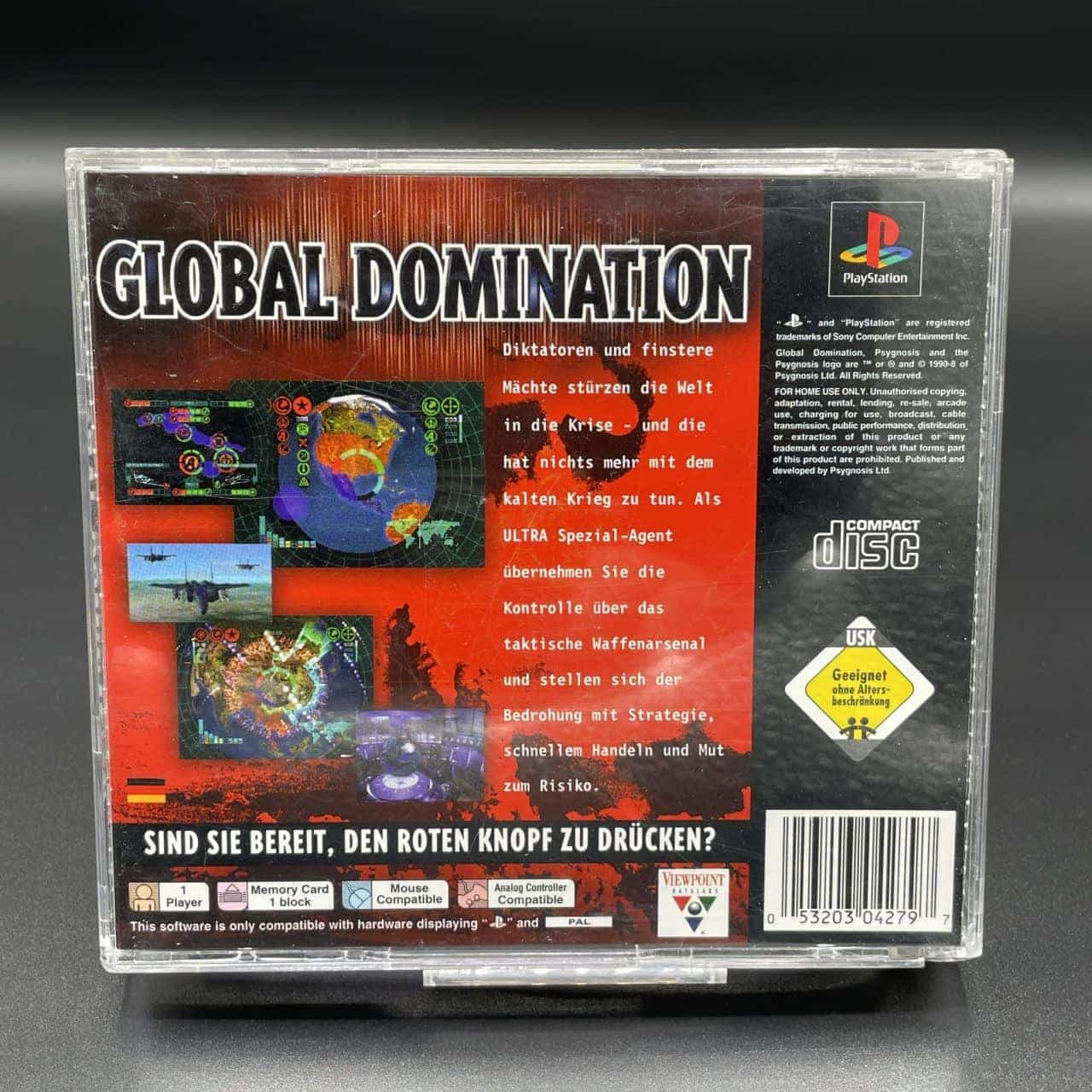 PS1 Global Domination (Komplett) (Sehr gut) Sony PlayStation 1