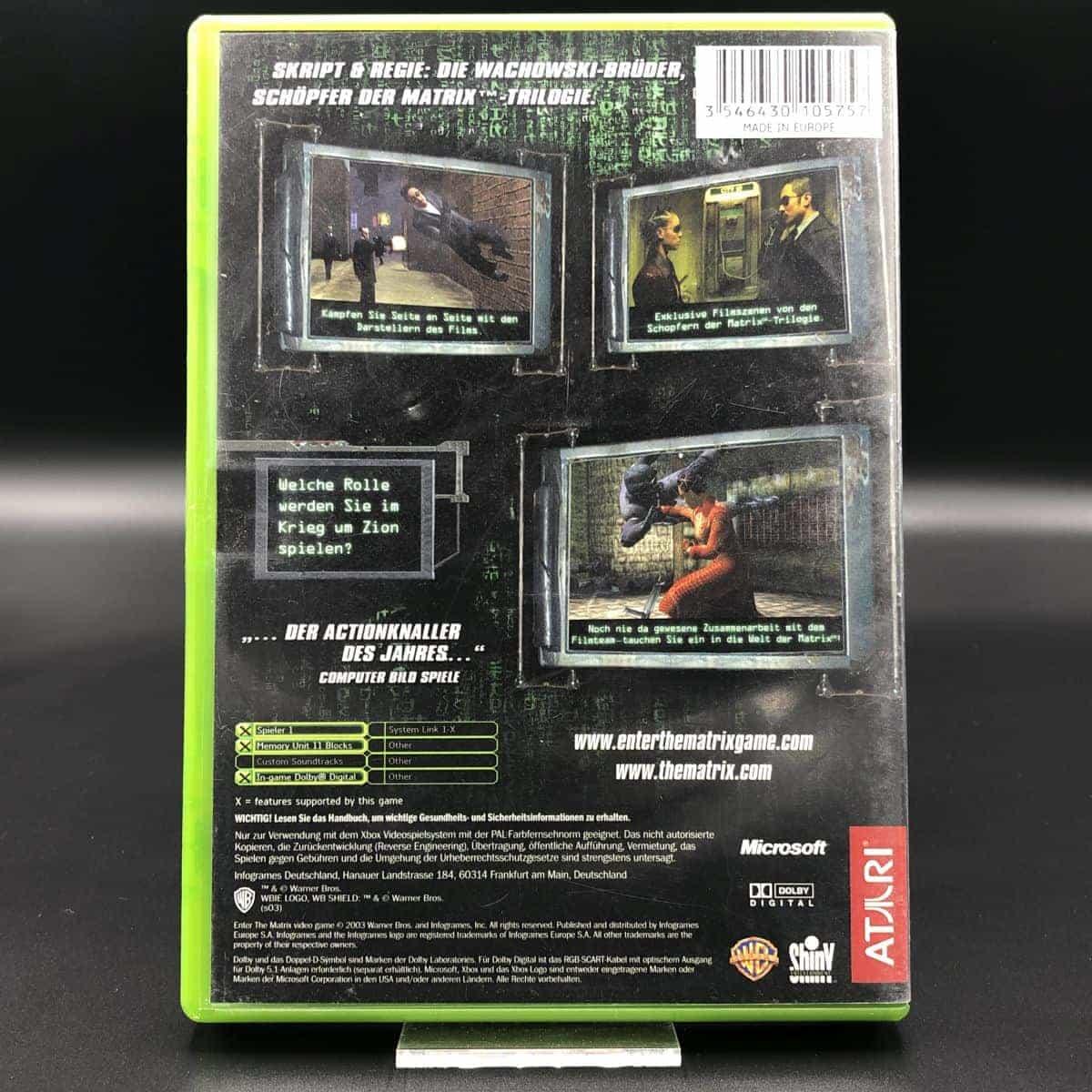 XBC Enter the Matrix (Komplett) (Gut) Microsoft Xbox Classic