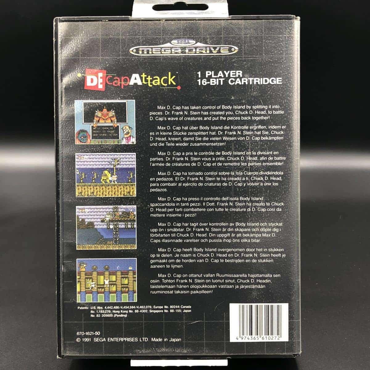 Decap Attack (ohne Anleitung) (Sehr gut) Sega Mega Drive
