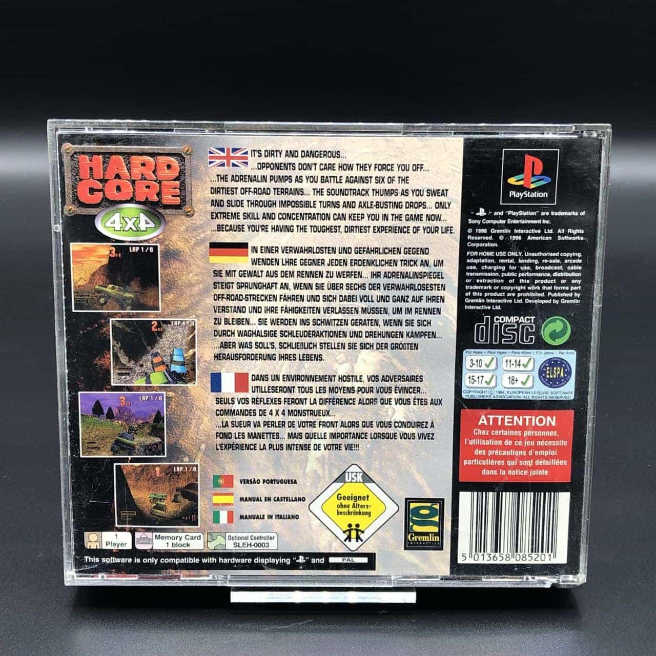 PS1 Hard Core 4x4 (Komplett) (Sehr gut) Sony PlayStation 1