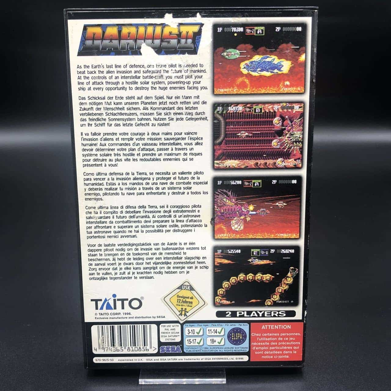 Darius II (Komplett) (Gut) Sega Saturn