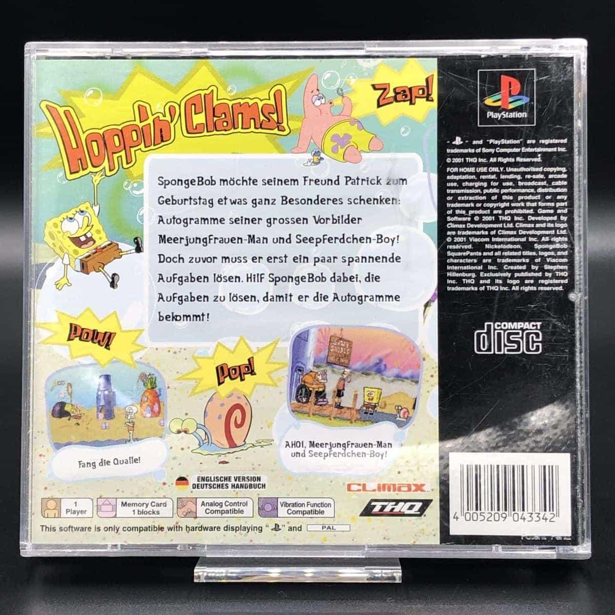 PS1 SpongeBob SquarePants - SuperSponge (Komplett) (Sehr gut) Sony PlayStation 1