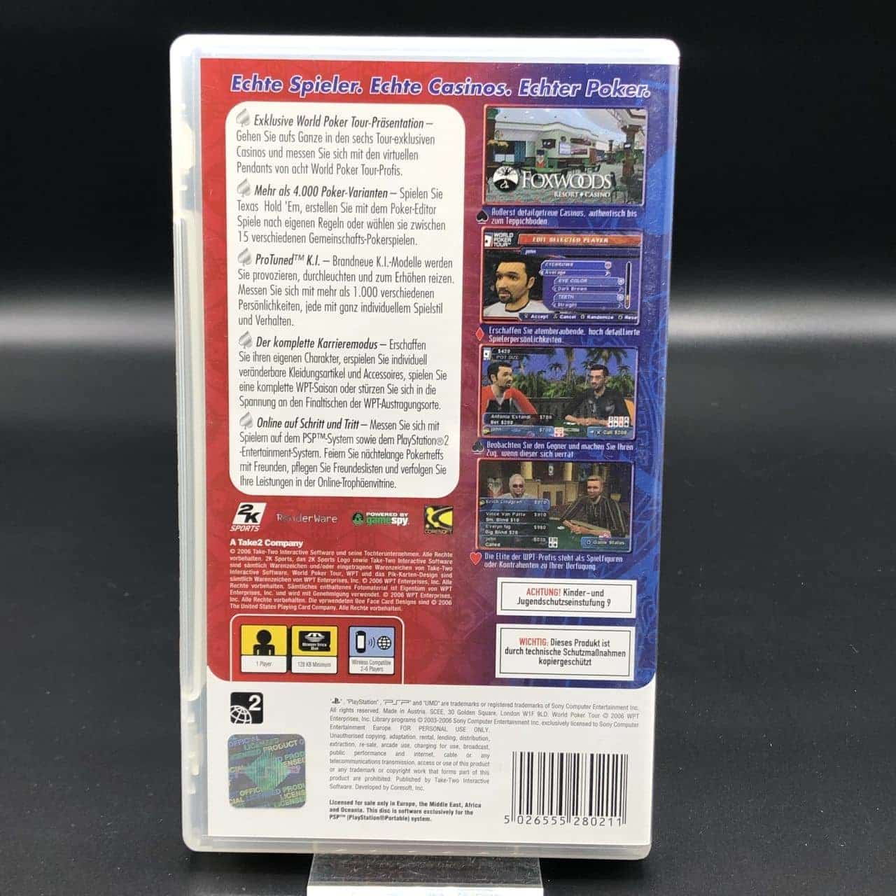 PSP World Poker Tour (Komplett) (Sehr gut) Sony PlayStation Portable