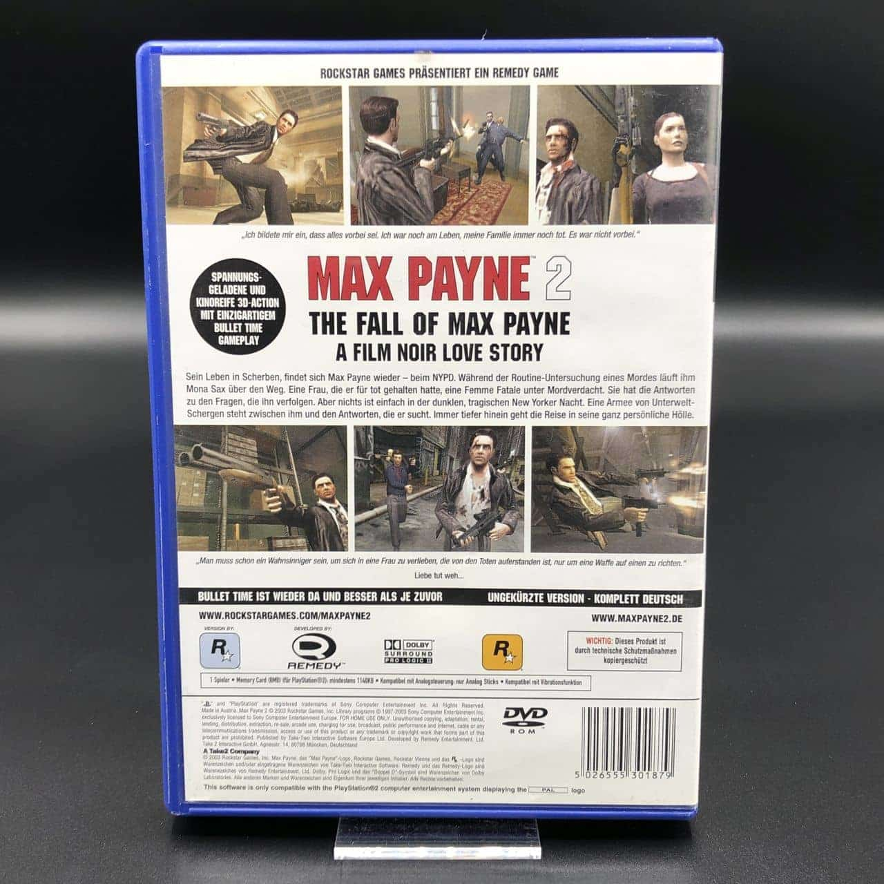 PS2 Max Payne 2: The Fall of Max Payne (ohne Anleitung) (Gebrauchsspuren) Sony PlayStation 2 (FSK18)