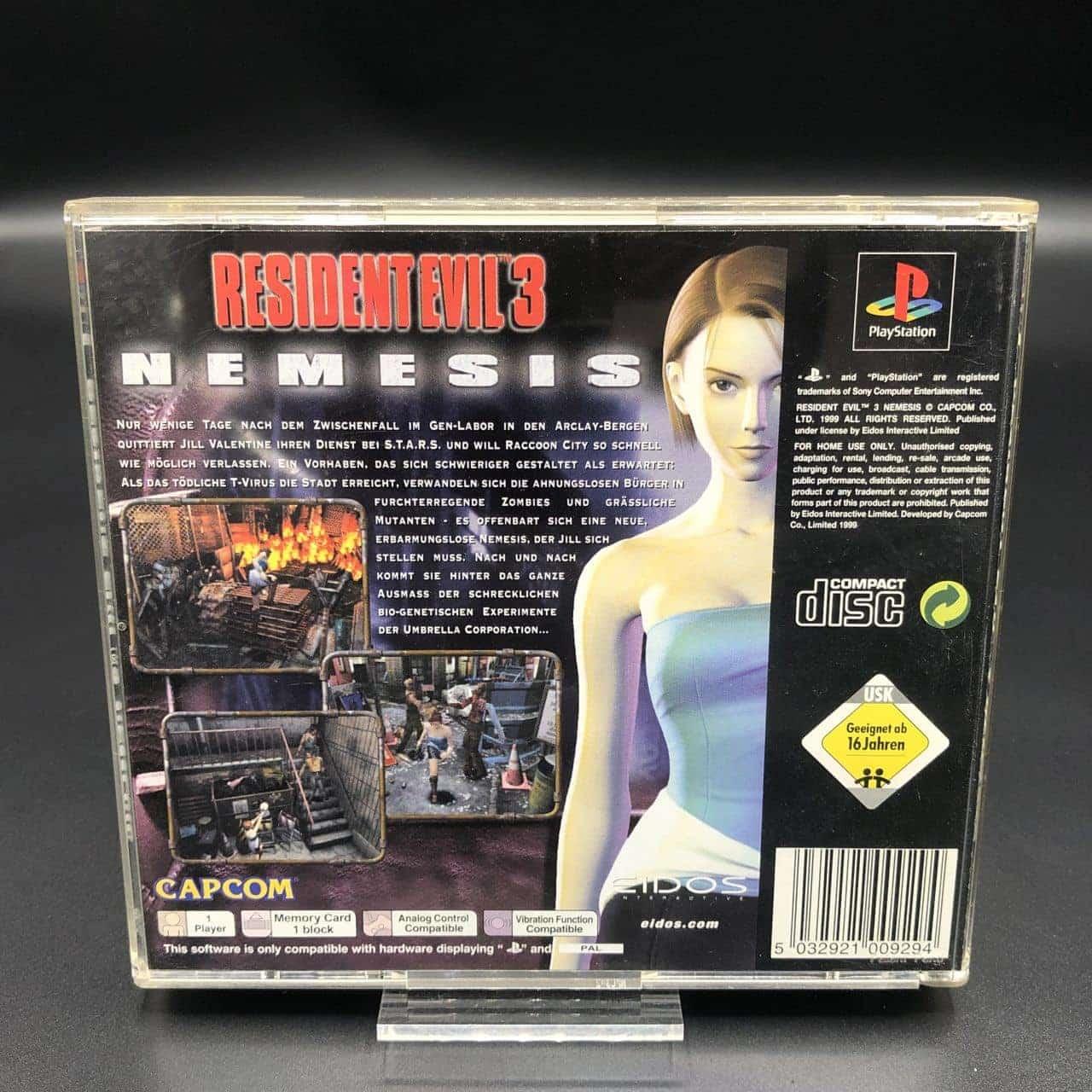 PS1 Resident Evil 3: Nemesis (Komplett) (Sehr gut) Sony PlayStation 1