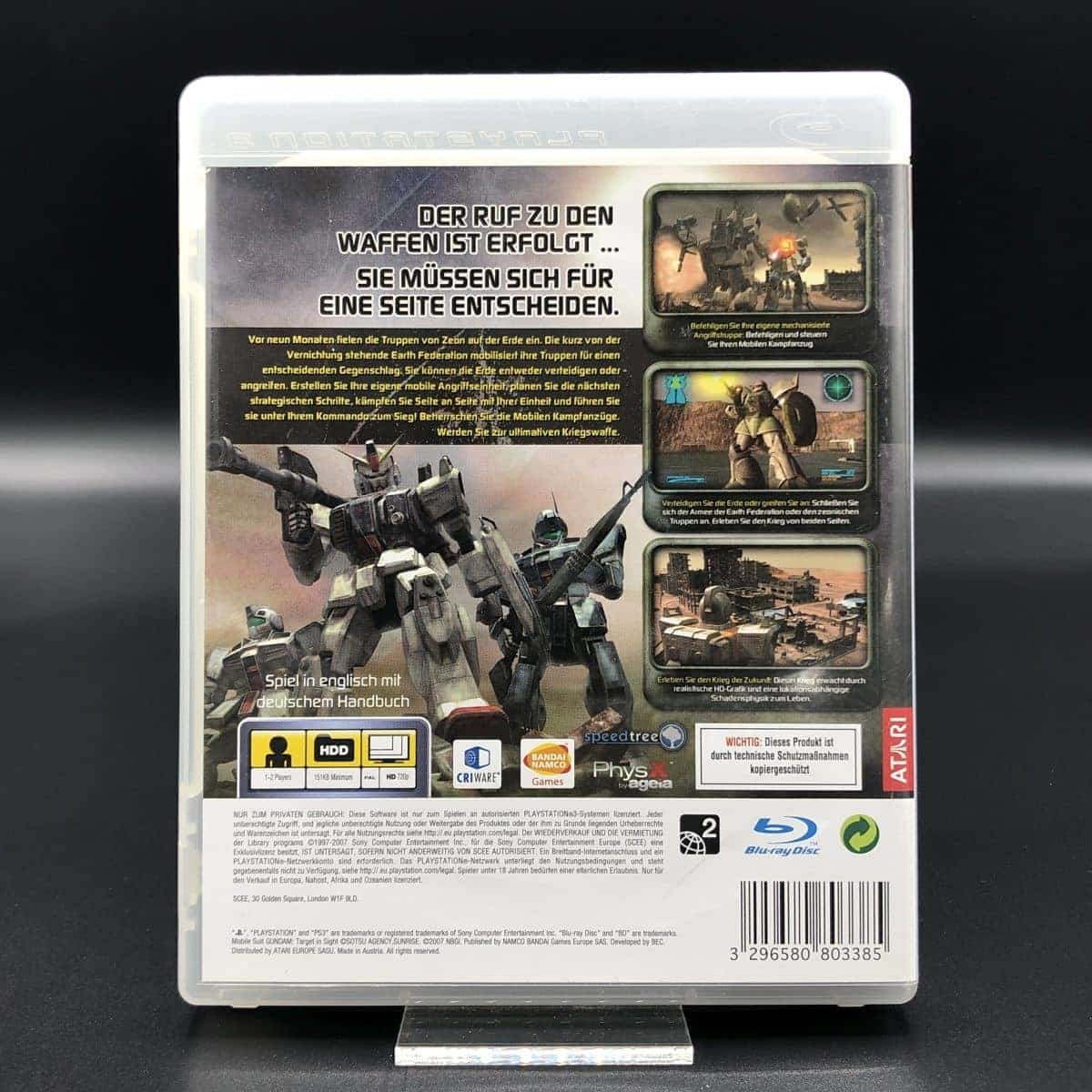 PS3 Mobile Suit Gundam: Target in Sight (Komplett) (Sehr gut) Sony PlayStation 3