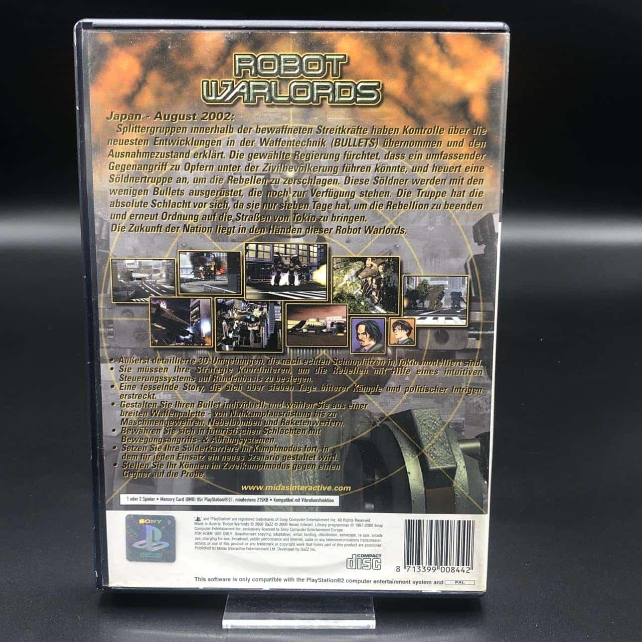 PS2 Robot Warlords (Komplett) (Gebrauchsspuren) Sony PlayStation 2