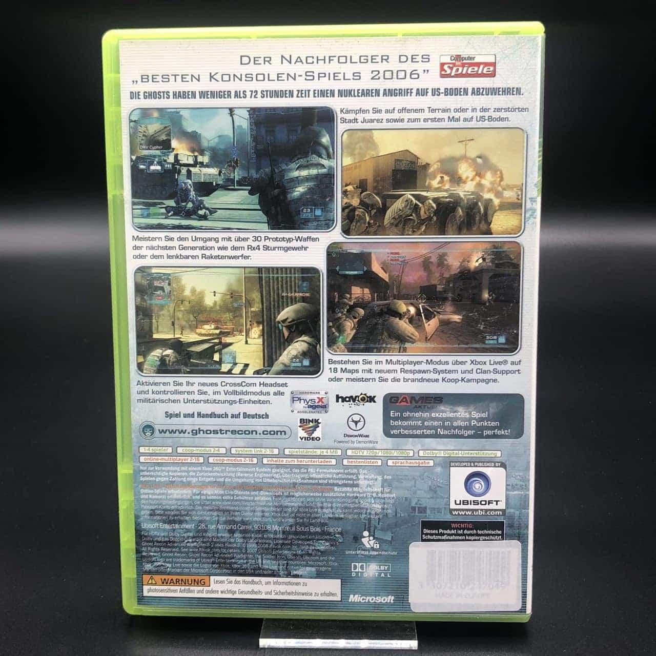 Tom Clancy's Ghost Recon Advanced Warfighter 2 (Komplett) (Sehr gut) Xbox 360 (FSK18)