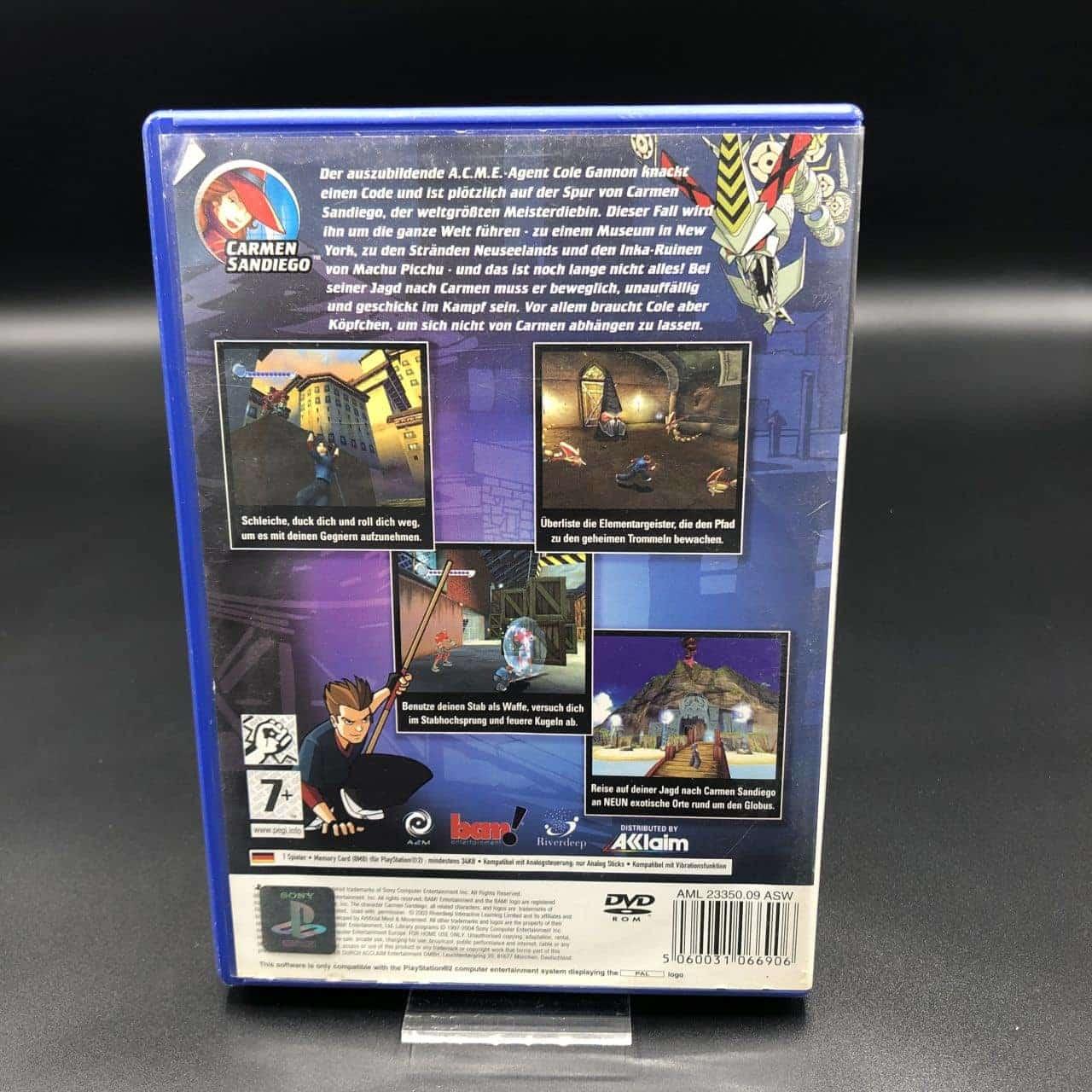 PS2 Carmen Sandiego: Das Geheimnis der gestohlenen Trommeln (Komplett) (Gebrauchsspuren) Sony Playstation 2