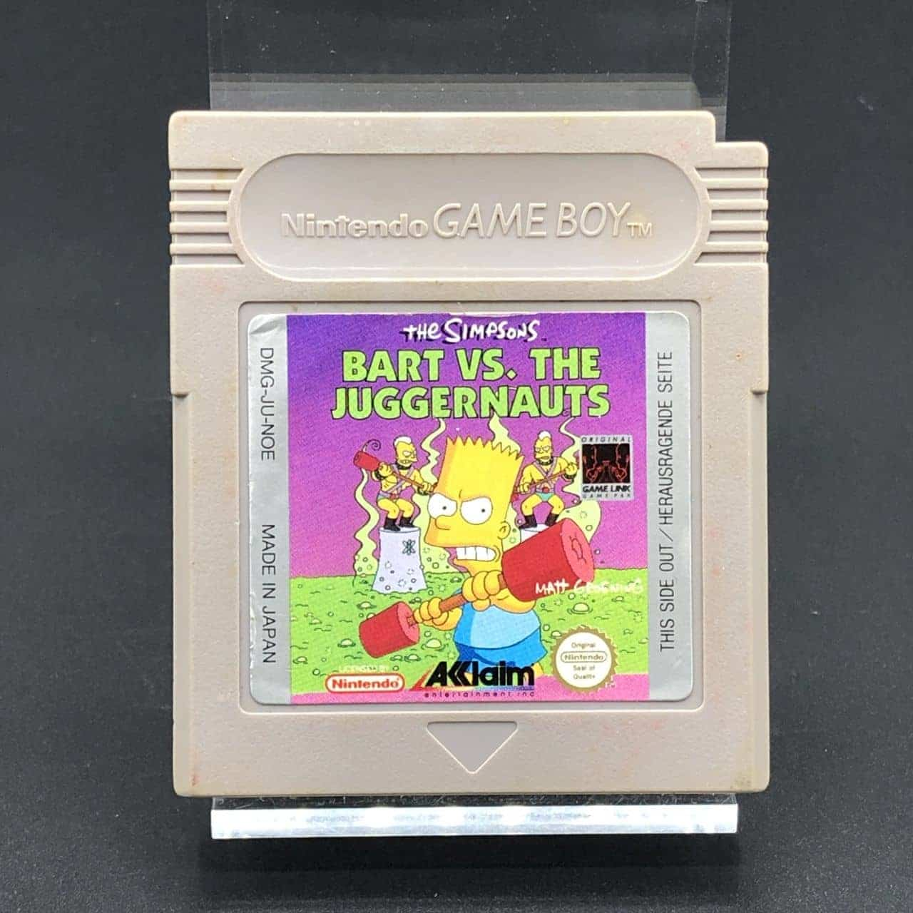 GB The Simpsons: Bart vs. The Juggernauts (Modul) (Gebrauchsspuren) Nintendo Game Boy