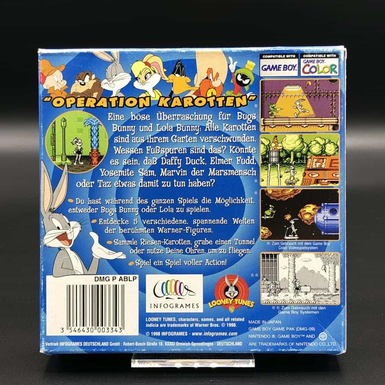 GBC Bugs Bunny & Lola Bunny: Operation Karotten (ohne Anleitung) (Sehr gut) Nintendo Game Boy Color