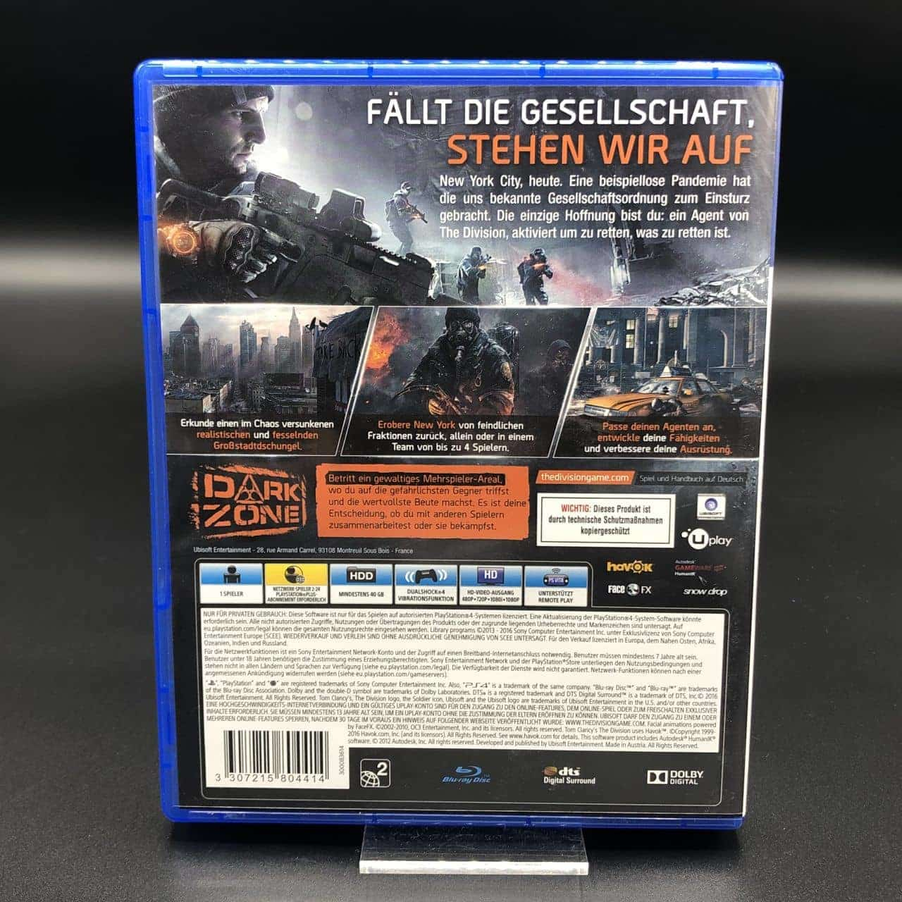 PS4 Tom Clancy's The Division (Sehr gut) Sony PlayStation 4 (FSK18)
