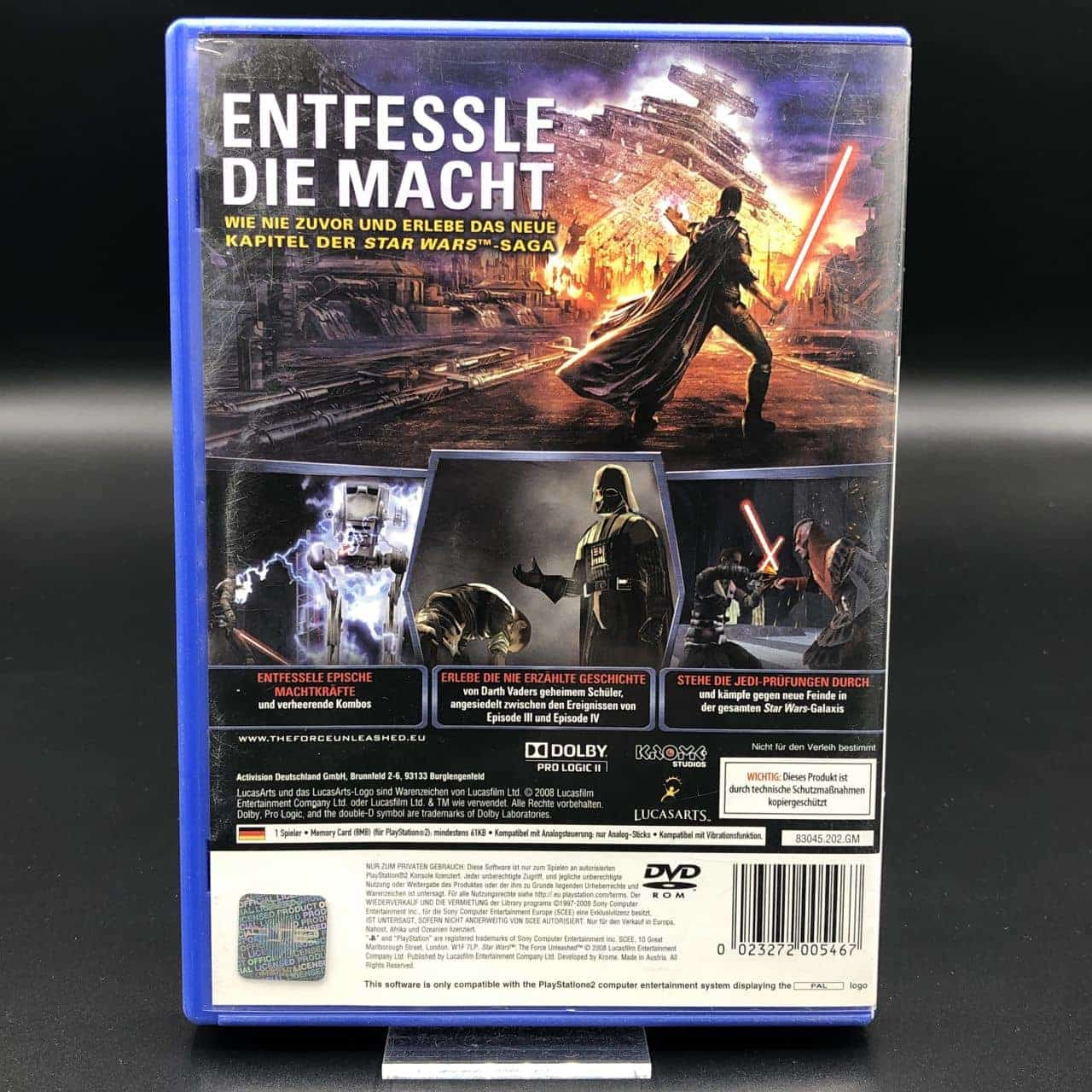 PS2 Star Wars: The Force Unleashed (Komplett) (Gut) Sony PlayStation 2