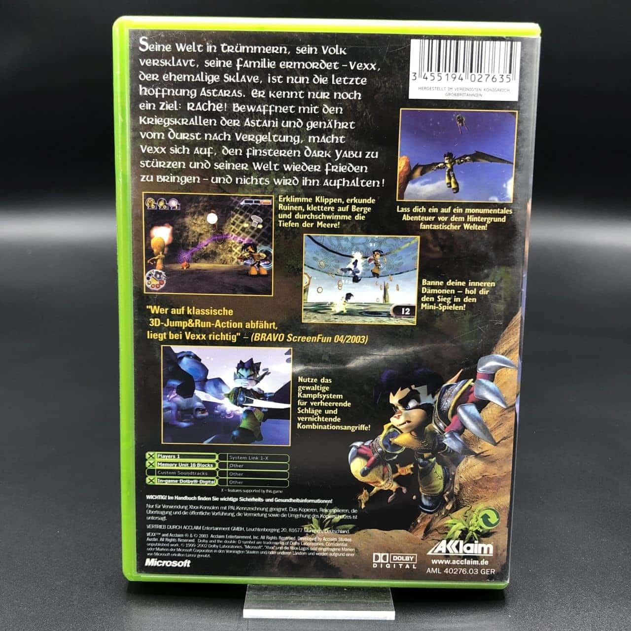 XBC Vexx (Komplett) (Gut) Microsoft Xbox Classic