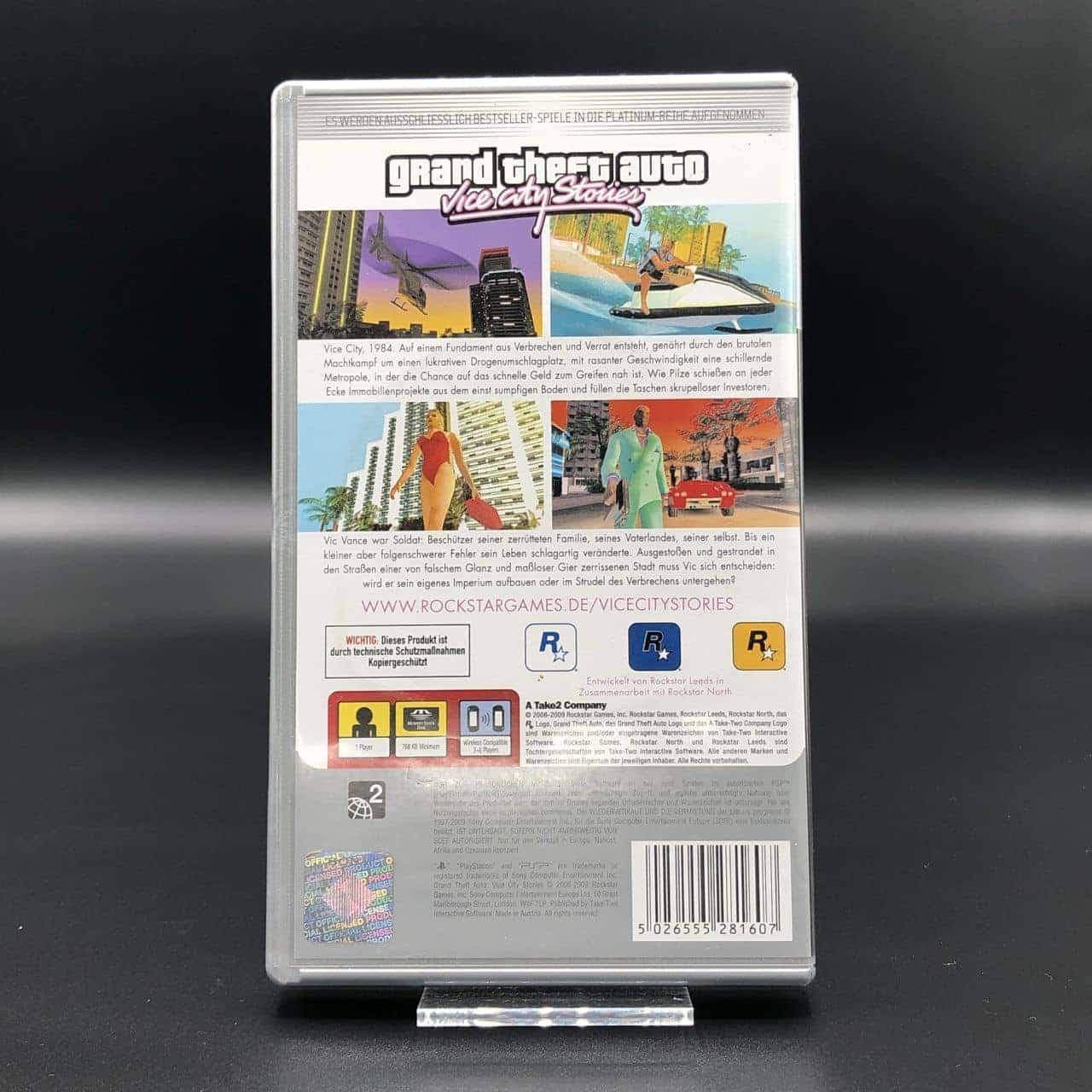 PSP Grand Theft Auto: Vice City Stories (Platinum) (Komplett) (Gut) Sony PlayStation Portable